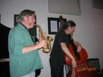 Carney (sax) & Noertker (bass)