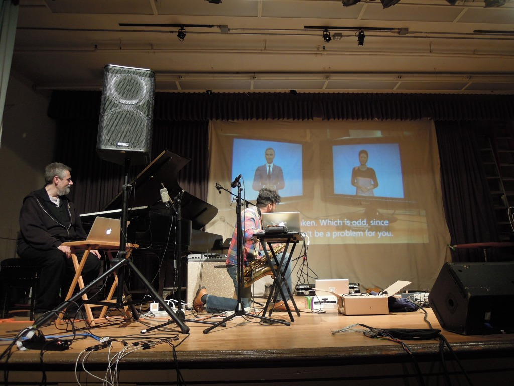 Lasqo and Banerjee opened their performance by playing the Cornell video clip that inspired them.