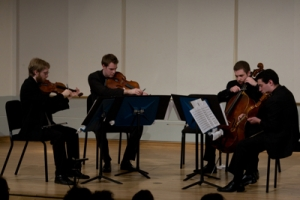 "Jack Quartet performing ""Boreal"" at New College of Florida."
