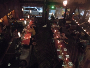 Duende's dining area: The view from the music loft.