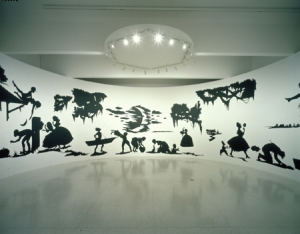 "Kara Walker's ""Life at 'Ol' Virginny's Hole' (sketches from Plantation Life),"" It measures 12 feet high by 85 feet long. Source: walkerart.org; click to go there."