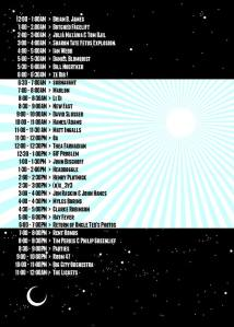 Schedule for KZSU's Day of Noise 2015