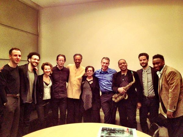 Double-Up, plus Melford and Yrigoyan. Photo posted by David Bryant (@dblaque_MUSIC) on Twitter.