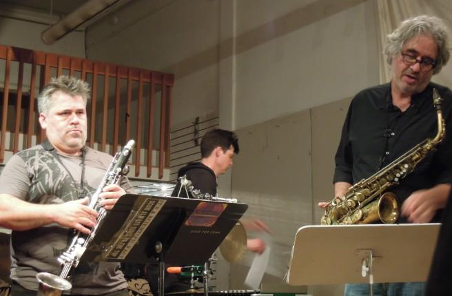 Oscar Noriega, Ches Smith, Tim Berne -- Tim Berne's Snakeoil at Berkeley Arts Festival, May 3, 2015